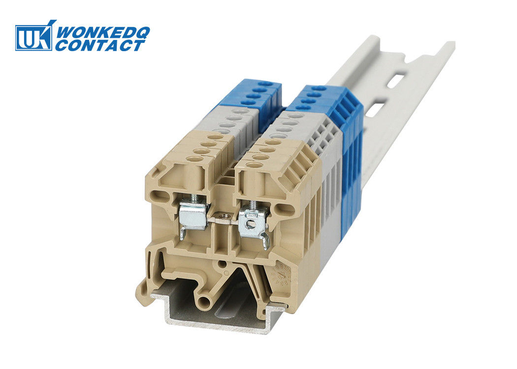 JSAK 2.5EN Series Beige Screw Connection Terminal Block 2.5mm² Cross Section